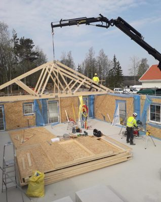 Skydinių namų statyba